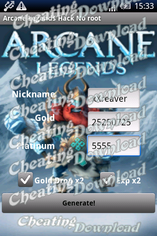 arcane legends android hack proof