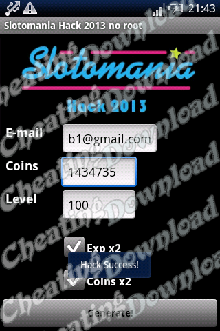 slotomania cheats android
