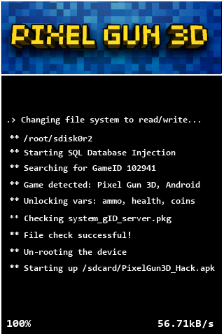 pixel gun 3d hack initialization step